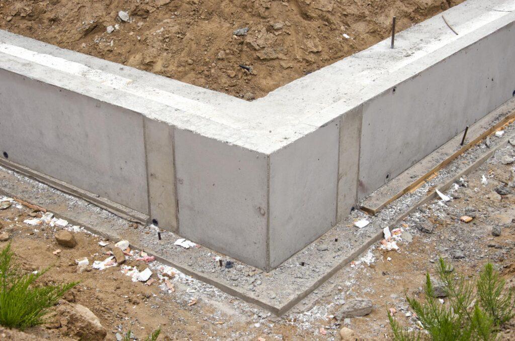 a concrete house foundation
